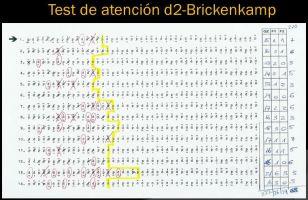 Test de atención d2-Brickenkamp